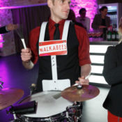 Walkabees live Bolle Meierei, Drums
