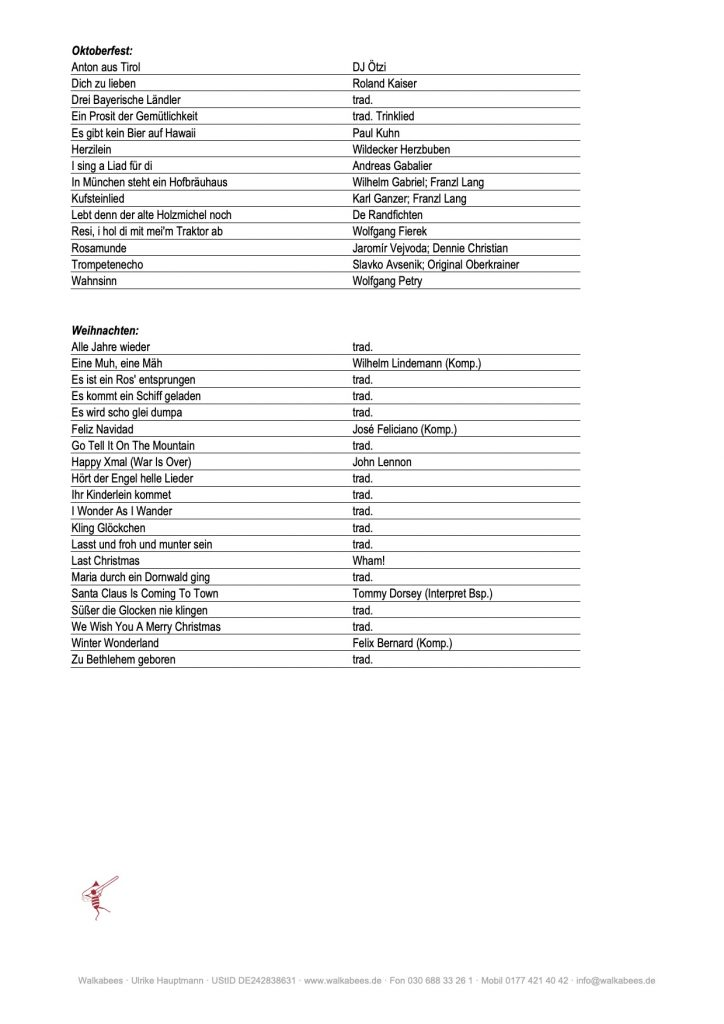 Walkabees Repertoire - Seite 2